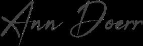 Ann Doerr signature